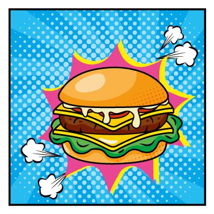 Cultura pop art de la hamburguesa
